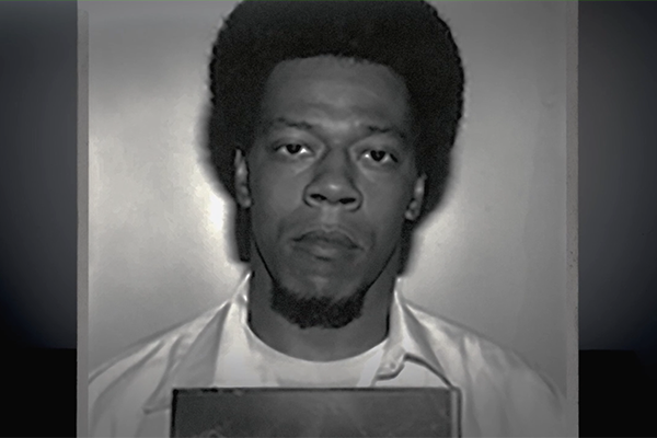 Prison mugshot of man