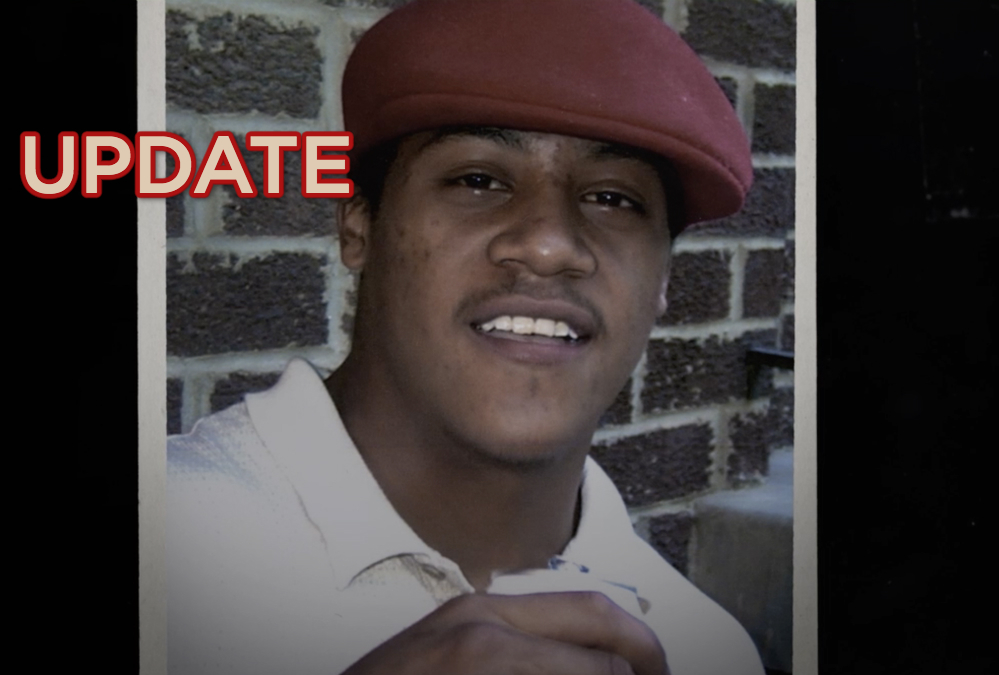Alonzo in red hat and white polo shirt smiling, text: update