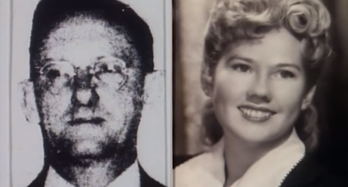 Black and white images, man on the left, woman on the right