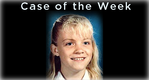 Young girl, text: Case of the Week