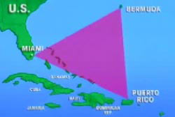 A map of the Bermuda Triangle.