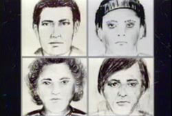 Four police sketches of other suspects.