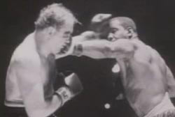 Sonny Liston is punching Chuck Wepner in the face.