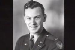 Ken Palmer, as a young man in a lieutenant's uniform.