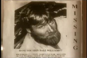 A missing poster for Dale Williams.
