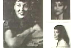 Three different flyers with photos of Elizabeth Campbell on them.