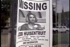 A missing poster for Jodi Huisentruit.