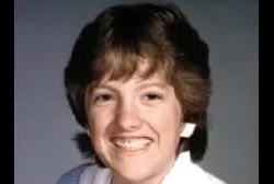 A young woman with short brown hair, Kristi Krebs.