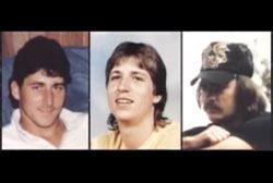 Three different photos of three of the crew: Billy Joe, Keith and Richard. They are all young caucasian men.