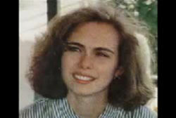 A young caucasian woman, Alicia Showalter, with shoulder length cury hair.