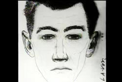 Composite sketch of a caucasian man with big ears