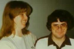 Linda Sohus laughing next to John Sohus