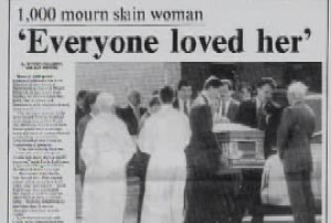 News Article that reads 'Everyone Loved Her'