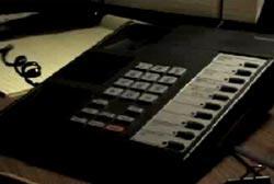 A landline phone being used