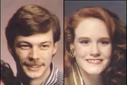 Left: Smiling Michael Johnston with a mustache, Right: Smiling Rochelle Robinson