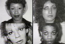 4 female victims of the ohio serial killer. Two caucasian prostitutes and two african american prostitutes