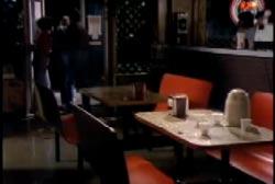 Don Decker entering a diner