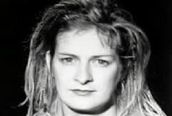 Mia Zapata with medium length hair