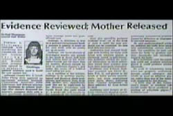 News Article titled 'Evidence Reviewed; Mother Released