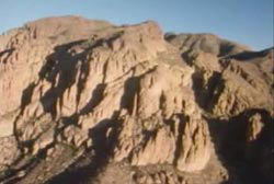 Superstition Mtns, a large desert mountain in Arizona