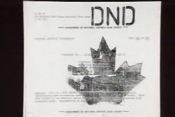 Canadian government documents about the UFO