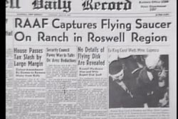 News Article titled 'RAAF Captures Flying Saucer On Ranch in Roswell Region'