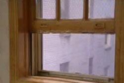 A window left half open