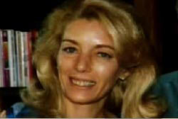 Smiling Cindy James with blond hair