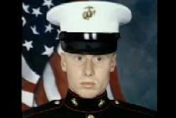David Cox in full marine uniform
