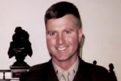 Smiling Jeffrey Digman in a military uniform