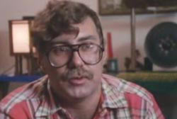 """Gabriel Carrillo known as """"Caradoc"""" wearing glasses and a mustache"""