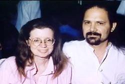 Leonard Rizzo with his arm around Monika Rizzo