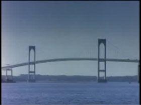 Newport Bridge in Rhode Island