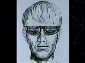 Police Sketch of a Caucasian man with light hair and sunglasses