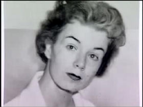 Sharon Kinne as a young woman