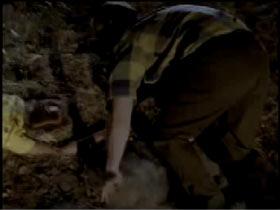 A man stumbling across a body in a ditch