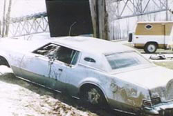 A broken-down car pulled out of the Missouri River