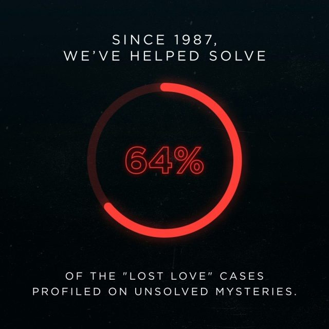 We do it for the families. Help bring more together, submit a tip to: unsolved.com/tips/